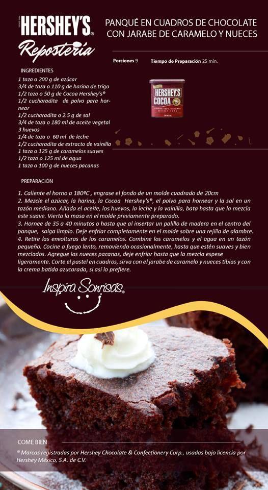 Prepara las mejores recetas con Chocolate Hershey's®. #Chocolate #Recetas #Repostería #DIY #Cook #Bakery