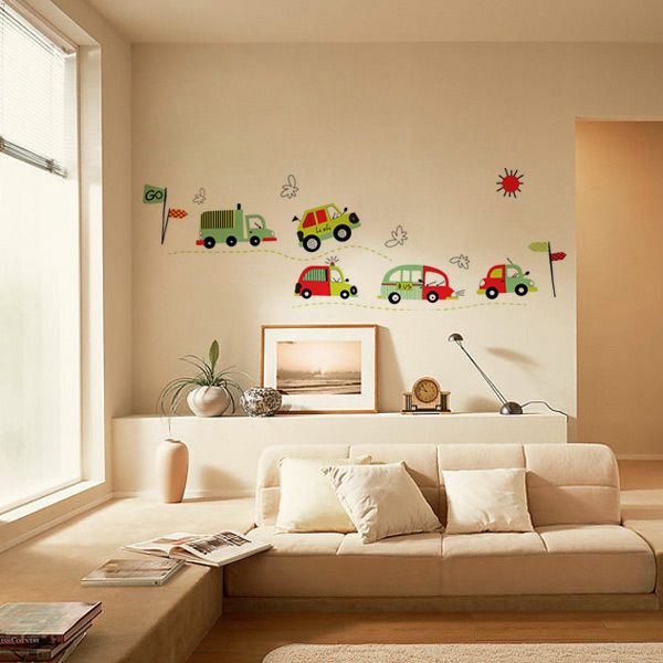 Cheap Wall Decals - DIY Coloful Car Removable Vinyl Wall Decal Stickers Art Kid Room Home Decor