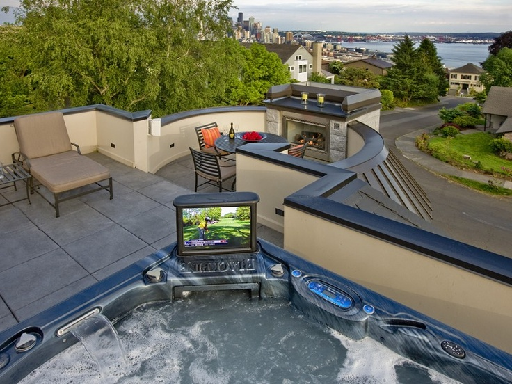 That is one way to go, but the jets will make it hard to hear the TV, I think. roof top decks in Seattle
