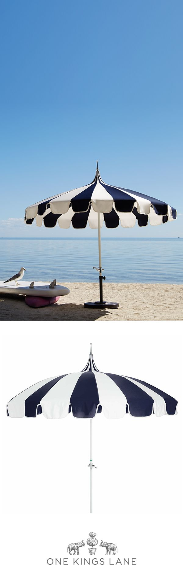 It's time to get outside! Whether you're entertaining or just lounging outdoors, catch some shade in style with this patio umbrella. Find the perfect outdoor umbrella on One Kings Lane and make your outdoor space (big or small!) one you love.