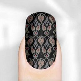 Rebel Nails Nail Wraps - Kensington Patterned for Fingers You can create a patterned look with our nail wrap. Easy to you and highly recommended. Not only that but you also get a 2in1 deal for this Autumn because the nail is black with a paisley pattern on. Perfect for Autumn 2013 #feelunique #rebelnails #punk #stickers #funky #patterned #cheap