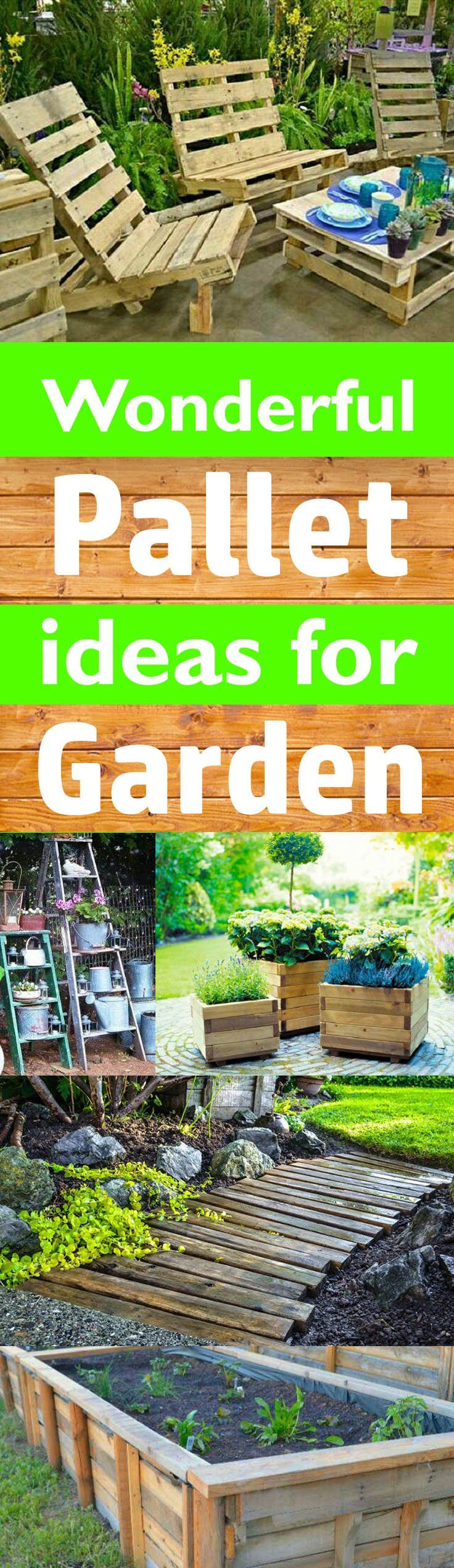 14 wonderful ideas to use pallets in garden design