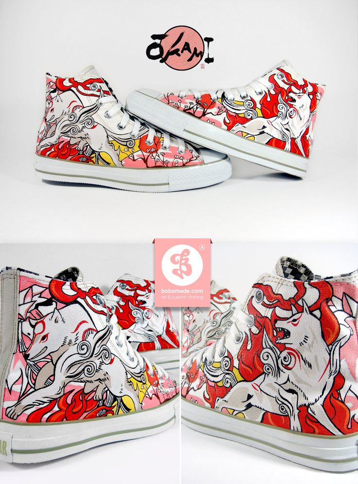 Custom Okami shoes