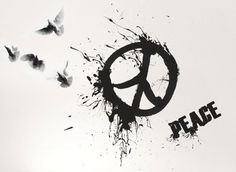 watercolor peace sign tattoo - Google Search                                                                                                                                                      More