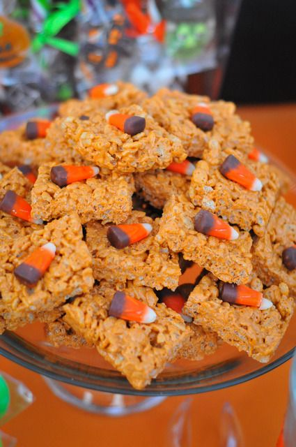 Rice Crispies treats  Halloween Birthday | Catch My Party