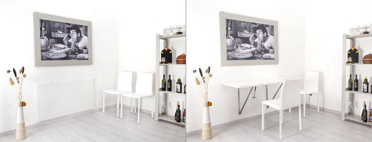 Tavolo pieghevole a muro per la cucina ed il soggiorno - Telkì Kitchen