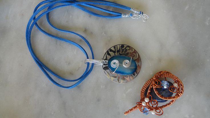 #wirejewelry #necklace #stone #beads