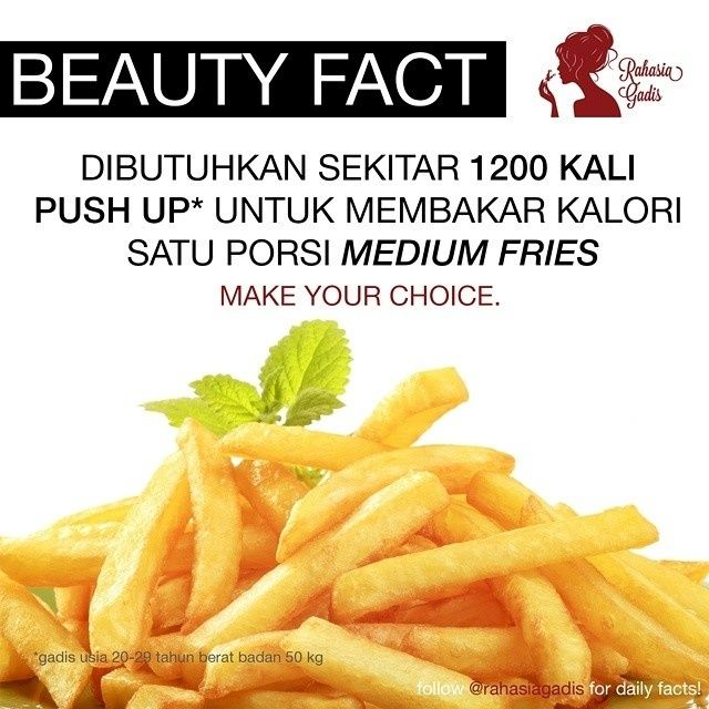 Pilih tetep makan french fries lah ya  #diet #motivation #inspiration #cute #pretty #free #new #unique #facts #secrets