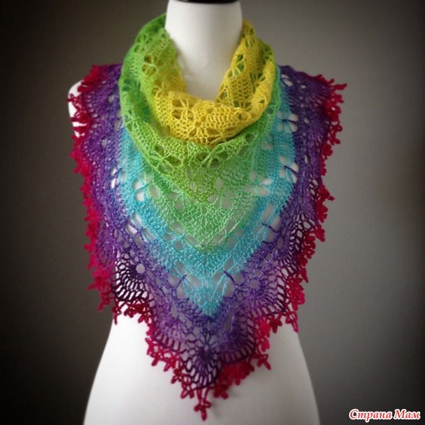 Knitting Shawl Russian : Podkins another stunning shawl chart this one crochet