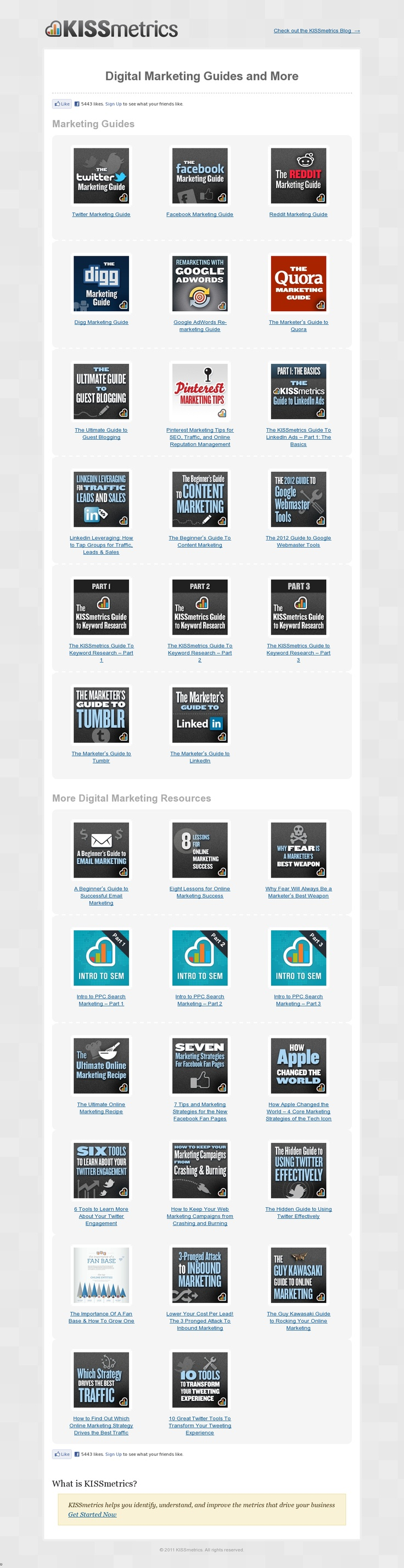Digital Marketing Guides and More - 'http://blog.kissmetrics.com/marketing-guides/' #digitalmarketing #resources