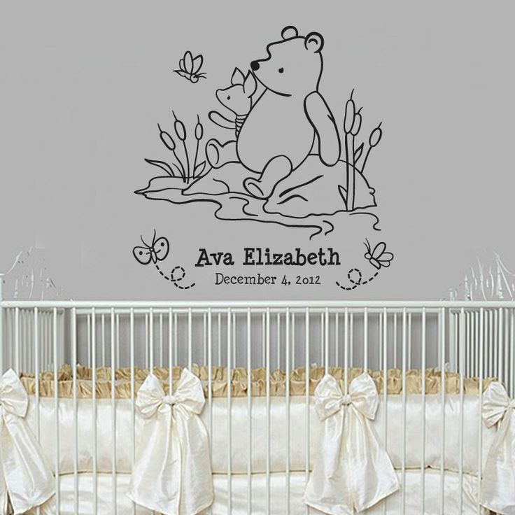 17 best images about nursery mural ideas on pinterest for Classic winnie the pooh wall mural