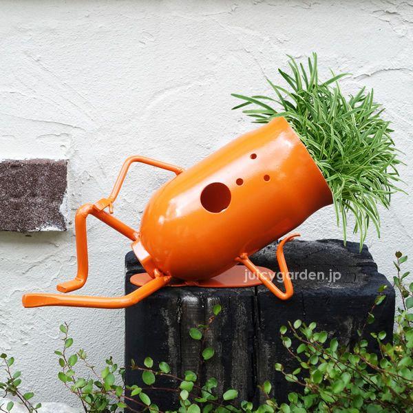廃材で作る可愛いガーデンポット「ぽけっとゾンビ<カラー塗装>」お庭のワンポイントにカラフルな鉢カバーがオススメ!