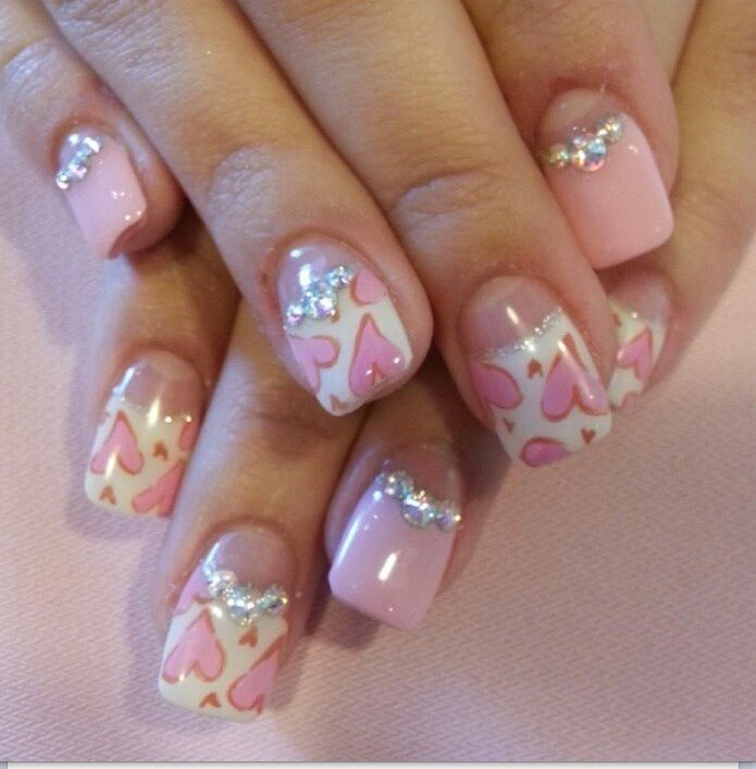 9 Best Heart Nail Art Designs With Images: Best 25+ Valentine Nail Designs Ideas On Pinterest
