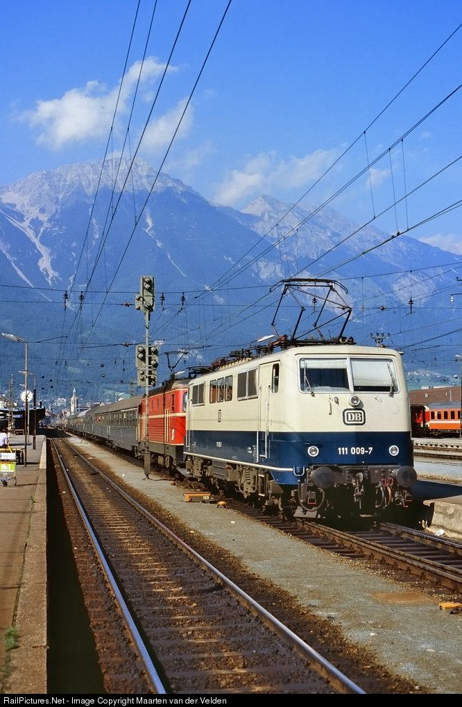 111 009-7 Deutsche Bundesbahn DB class 111 at Innsbruck Hbf, Austria by Maarten van der Velden