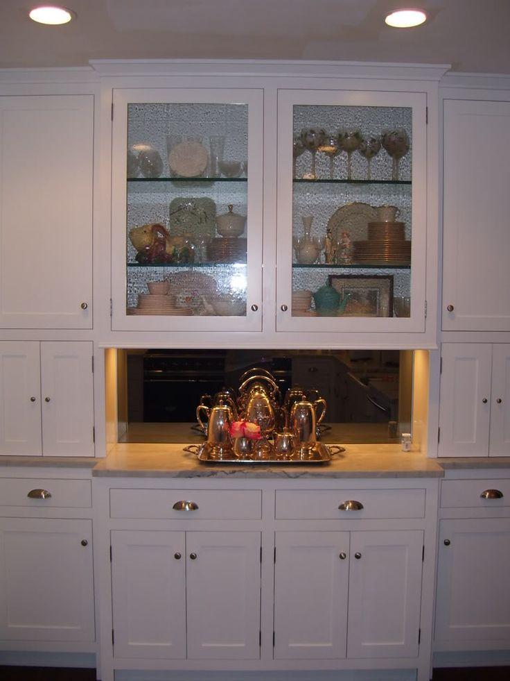 Best Distressed Glass Kitchen Cabinet Smoke Gray Mirror 640 x 480