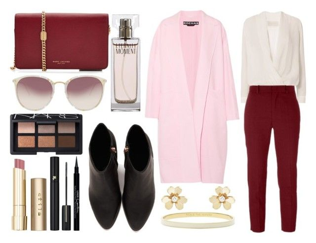 """""""Untitled #343"""" by larryisrealforever ❤ liked on Polyvore featuring Michelle Mason, Rochas, Étoile Isabel Marant, Alexander Wang, Marc Jacobs, Linda Farrow, Calvin Klein, Van Cleef & Arpels, Kate Spade and Stila"""