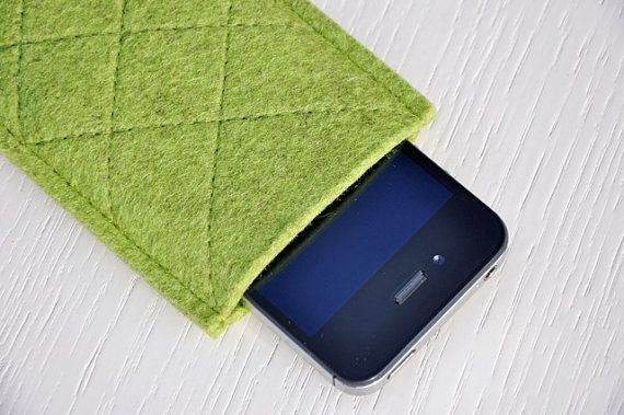 Kiwi Green iPhone 5/5S/5C Case/Pouch/Sleeve  Green by COMFYdotLT