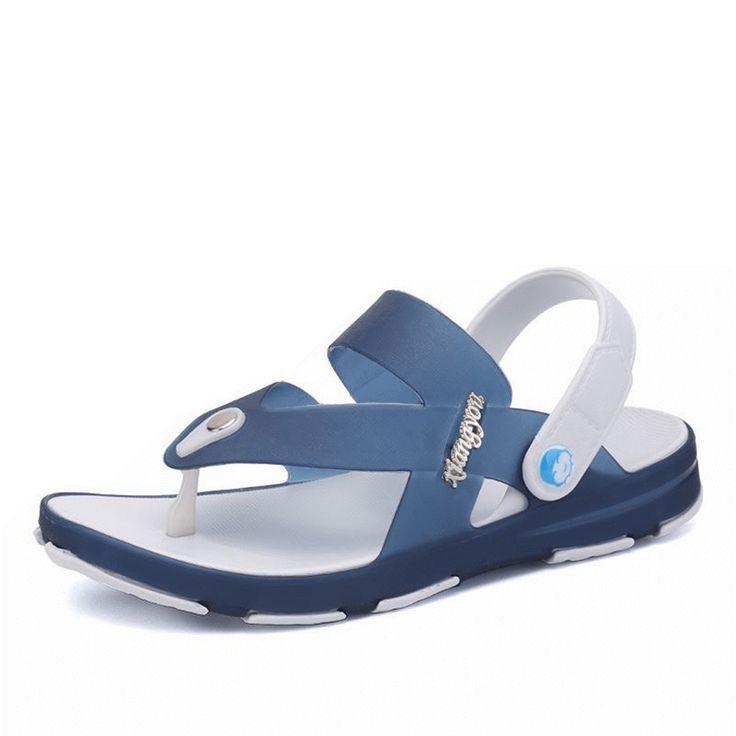 Sandálias de dedo macio e impermeável Slip On Sapatos no jardim e de praia para homens