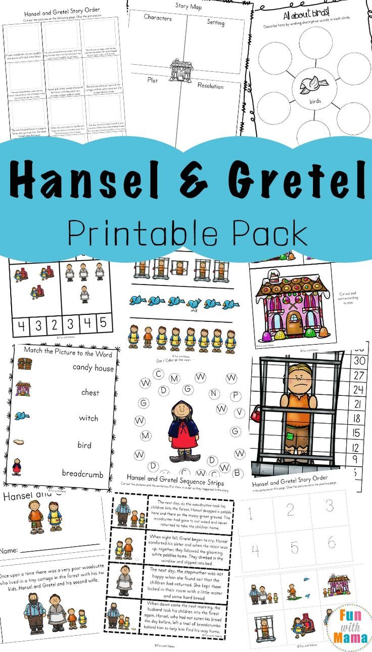Hansel And Gretel Short Story Activities Story Activities Activities Fairy Tale Activities