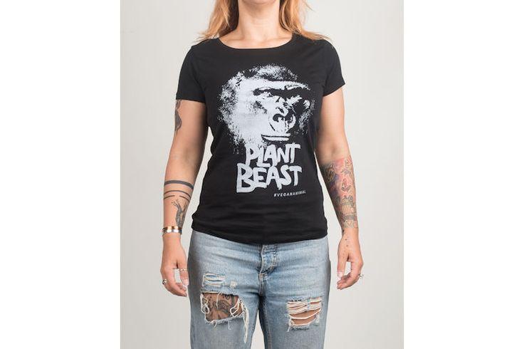 Vegan Animal T-shirt - Dames - Plant Beast | VEGA-LIFE - Lifestyle, Fashion & More