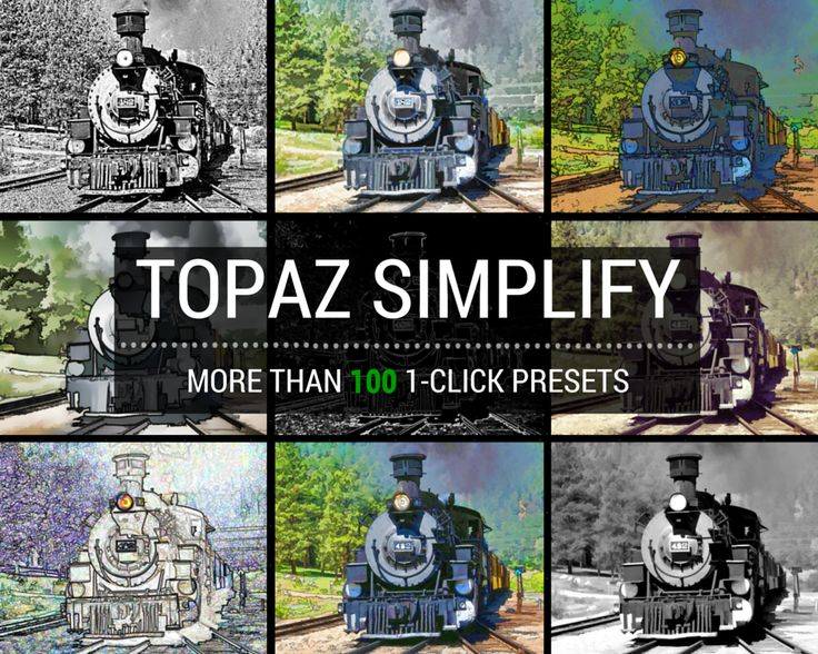 With Topaz Simplify you can create your own personalized work of art with just one click.