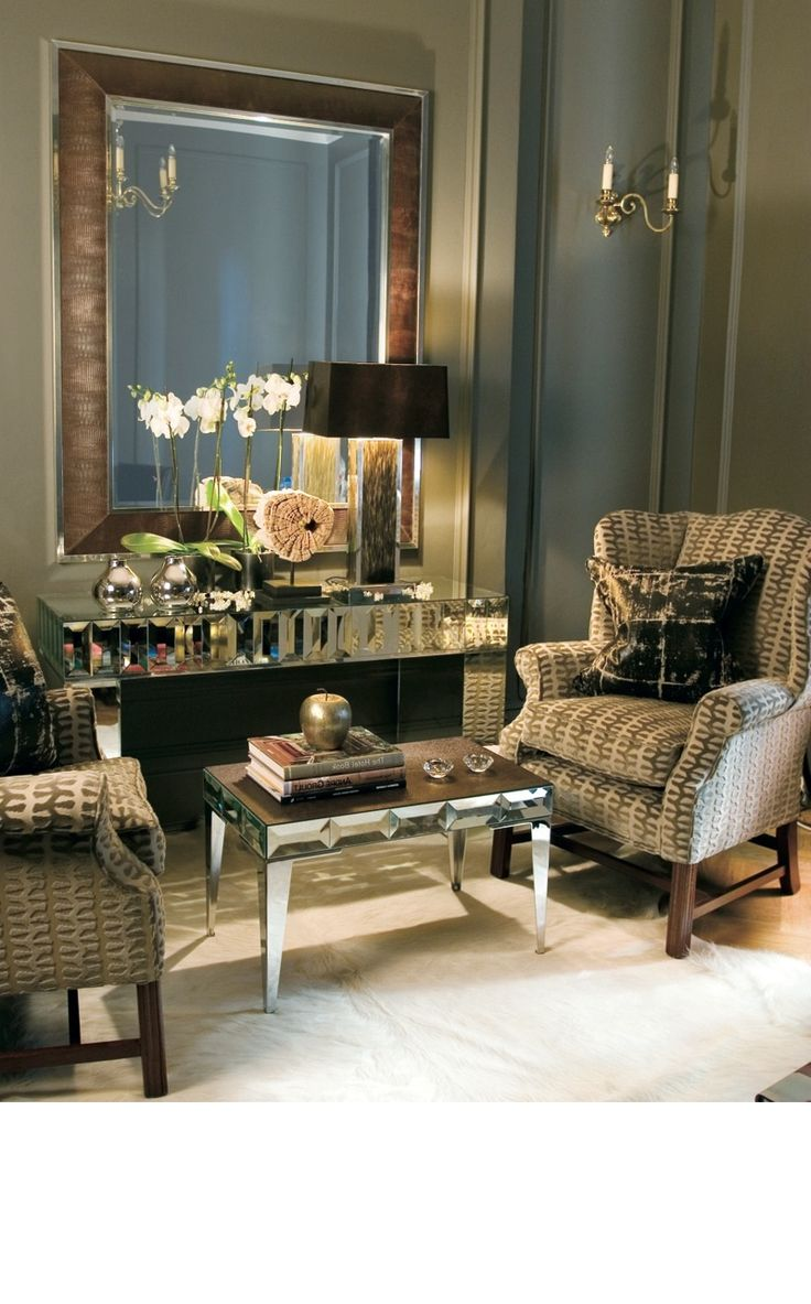 Instyle D Beverly Hills Luxe Brown Ostrich Leather Mirror Inspiring Interior Design Fans With Luxury Home Decor Ideas From Hollywood Enjoy Happy