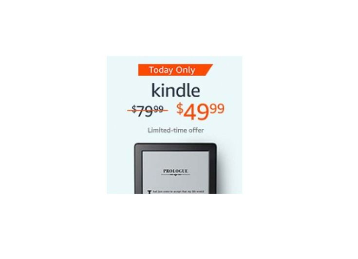 Kindle E-reader 6 Glare-Free Touchscreen Display Wi-Fi Built-In Audible for $49.99 at Amazon