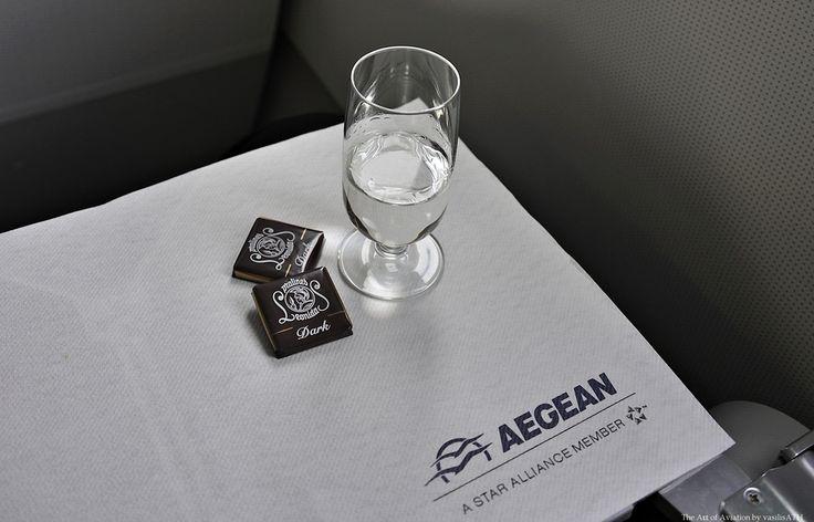 AEGEAN BUSINESS CLASS Liqueur Chios Mastiha (Enosis) Served with chocolates and pralines (Leonidas)