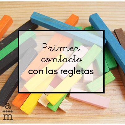 Las regletas numéricas es un material adecuado para trabajar con niños mayores de 5 años. Los niños se tienen que familiarizar con el material.