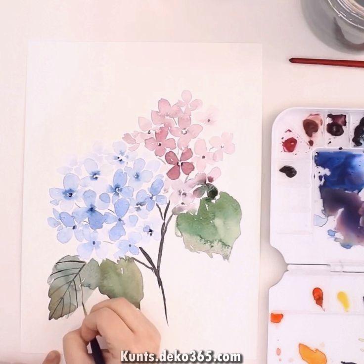 Einsteiger Tutorial Aquarell Aquarell Ideen Blumen Malen