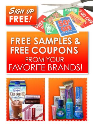 Coupons and free samples by mail!
