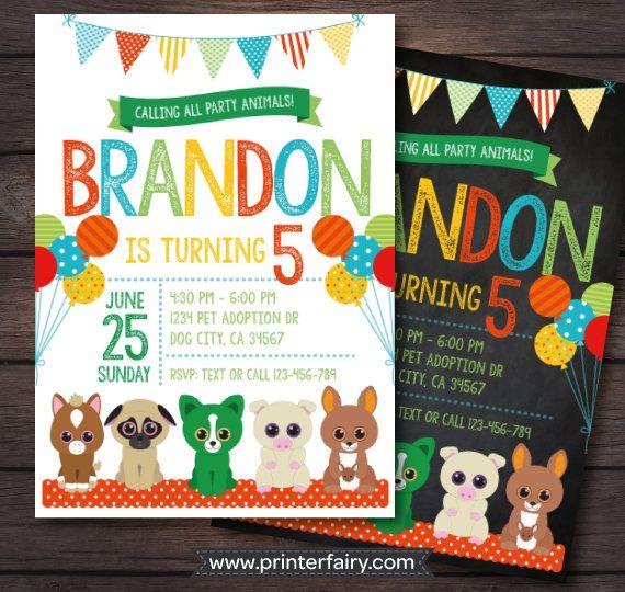Beanie Boo birthday Beanie boo digital invitation Pet