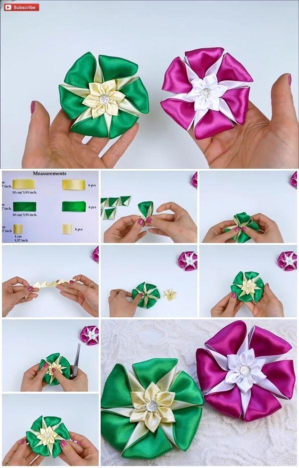 How to Make an Easy Ribbon Flower | UsefulDIY.com