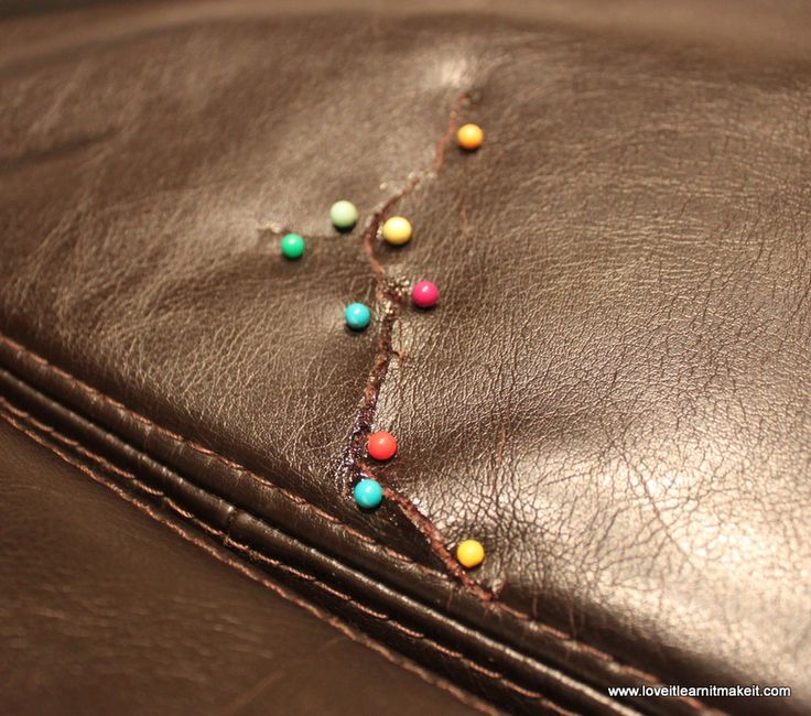 Love It Learn It Make It: Fix A Rip In Your Leather Sofa
