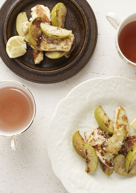 I Quit Sugar: Salted Caramel Haloumi and Apple.