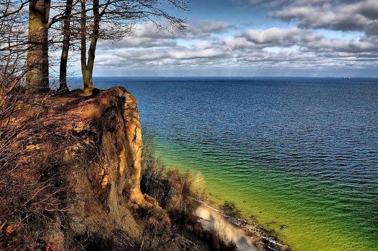 Cliff in Gdynia. Baltic Sea