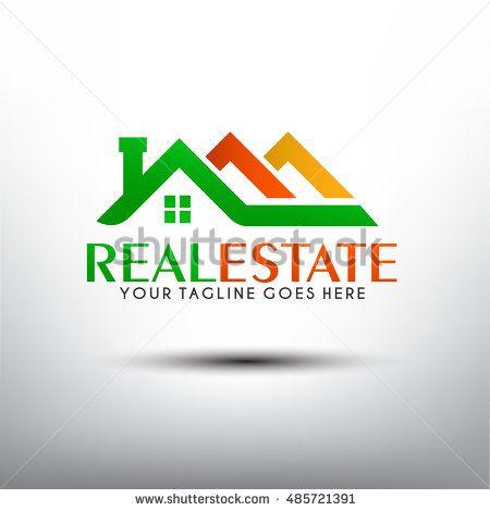 Elegant and color full real estate logo template. Vector iilustration