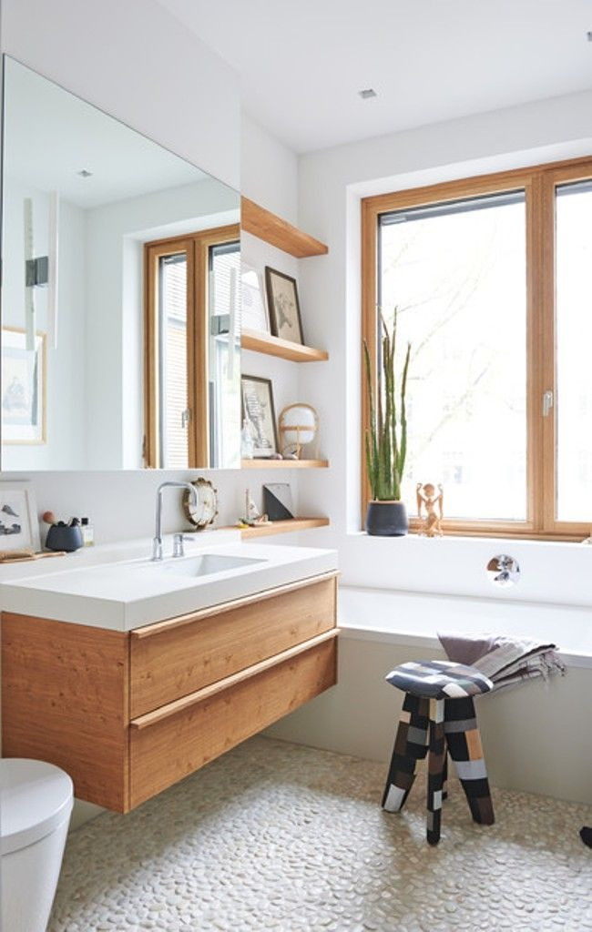 The Elegant Colors Of Scandinavian Bathroom Vanity Cabinets White Built In Tub And Wooden Floating Vanity Cabinet For Minimalist Scandinavian Bathroom Ideas