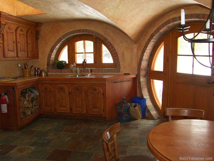 79 best modern hobbit kitchen images on pinterest for Modern hobbit house