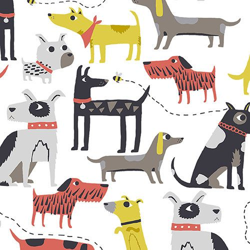 All Breeds of Dog Fabric  - Patch by Andover Fabrics - Dogs in Multi - Fabric by the Half Yard by NeedleinaFabricStash on Etsy https://www.etsy.com/listing/253352858/all-breeds-of-dog-fabric-patch-by