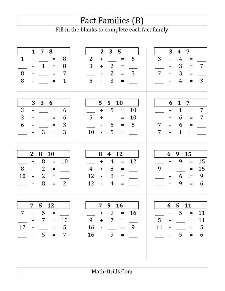 The 38 best Math images on Pinterest | Subtraction worksheets ...