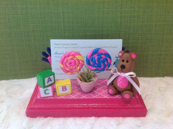 Custom business card holderwhimsical card by NaomisSweetStuff, $20.00