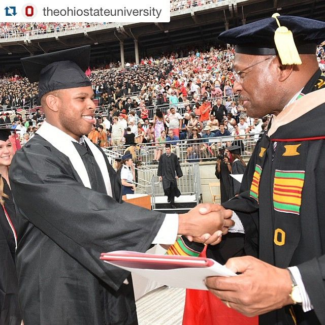 """""""#Repost @theohiostateuniversity with @repostapp. ・・・ In true #BuckeyeforLife fashion, Archie gets to hand his son and #OSUgrad Adam his diploma.…"""""""