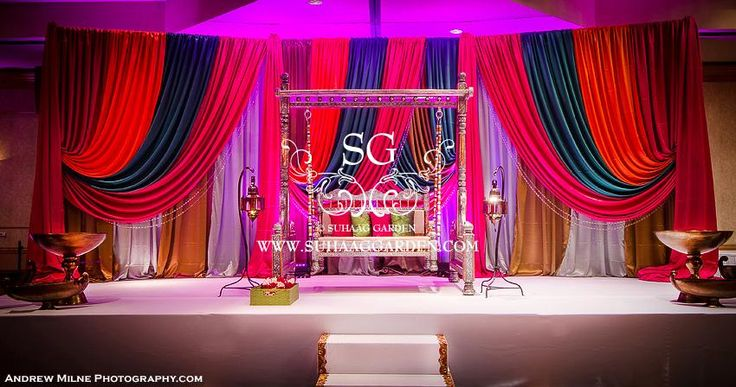 Suhaag Garden, Fort Lauderdale Marriott Coral Springs Hotel, Golf Club & Convention Center, Florida Indian Wedding Decorator, Mehndi Stage, Sangeet Stage, Paisley Backdrop, Colorful Drapery, Bride and Groom Seating, Jhula, Swing