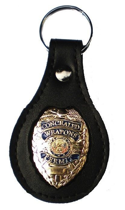 NECK CHAIN HOLDER CONCEALED CARRY PERMIT CCW BADGE CLIP