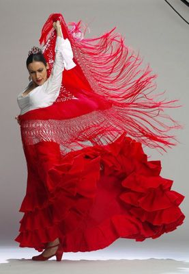 "I've been called ""The Lady in Red"", so this Spanish girl represents me!"