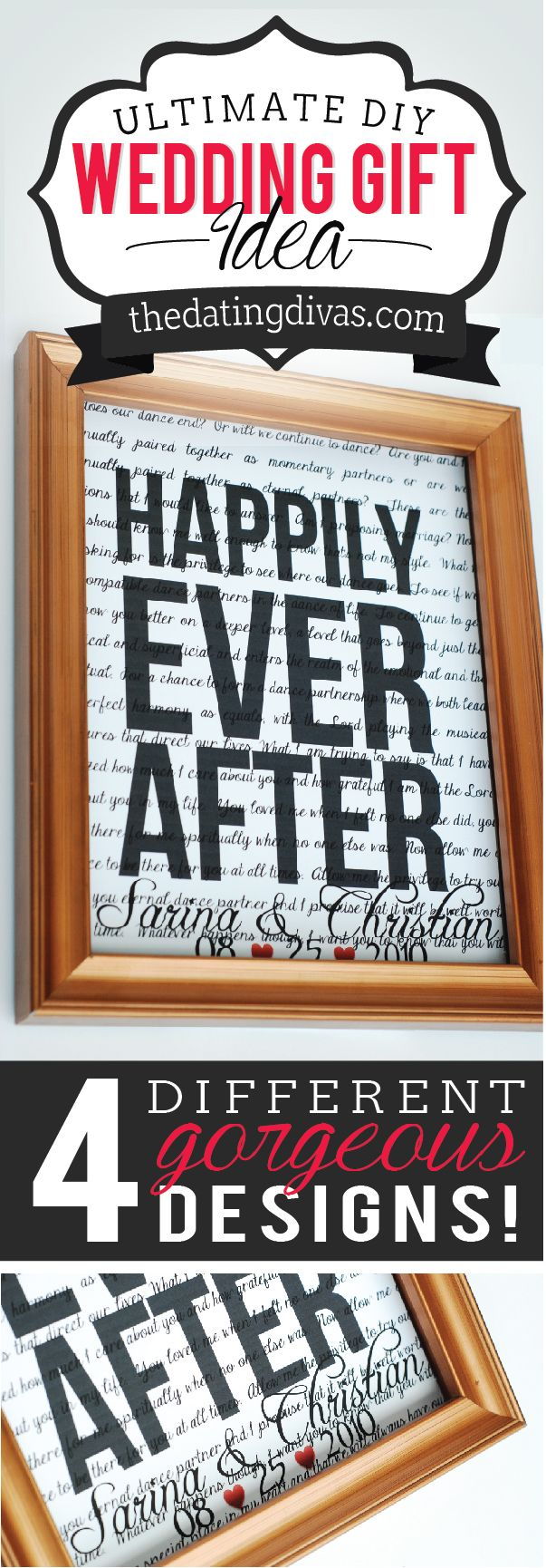 Make your own customized artwork to frame! The perfect wedding gift or home decor! www.TheDatingDivas.com