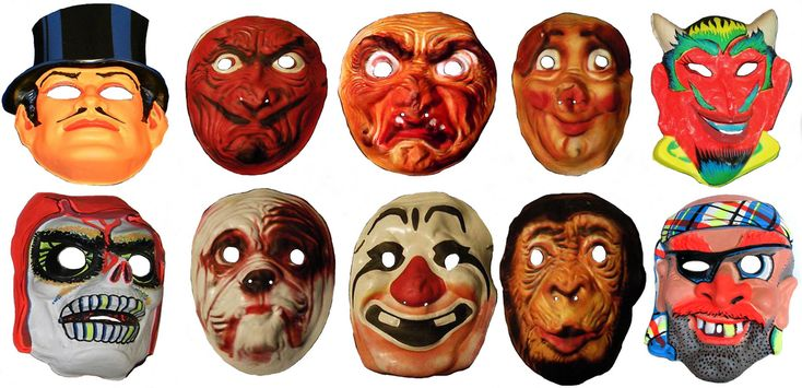 Halloween Newspaper Cartoon Scary Masks Vintage - Mandrake The Magician With Top Hat - Scary Devil Face - Scary Evil Witch Face - Scary Porker Face - Smiling Devil - Crimson Death Skull - Scary Bull Dog Face - Scary Toothless Clown Face - Scary Monk Chimp Face - Smiling Pirate with Plaid Head Scarf - Police Detective Gent - Screen Grab Ben Cooper Collegeville Mask newspaper Sunday funnies comics holiday costume Chimpanzee Monkey Monkeys Magic