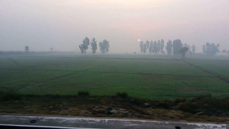 Pakistan Railway Millat Express Awesome Morning View