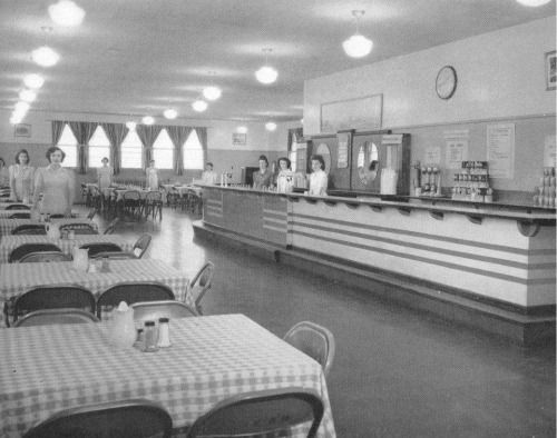 A cafe in US Naval Station Argentia, located in the Dominion of Newfoundland, 1945